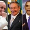 Obama y Castro le agradecen al Papa por el acercamiento