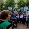 Nueva multitudinaria marcha en contra del cierre de las paritarias