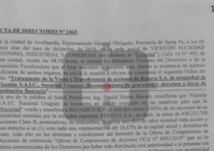 La venta de Renova, clave para entender la posible maniobra de lavado de Vicentín